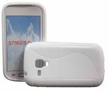 Rubber Case Wave für Samsung S7562 Galaxy S Duos in weiß Handy Tasche Hülle