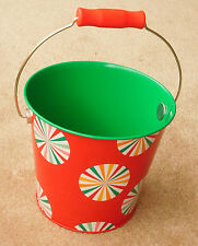 "Metal/Tin ""Red Candy"" Holiday Bucket Candy Treat Tin ~ Bath and Body Works Promo"