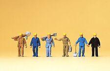 Preiser 79096 Spur N, Gleisbauarbeiter, 6 Figuren, Neu