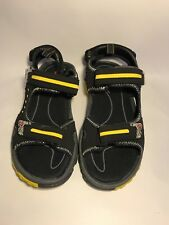 Mens Pacific Mountain Black/Yellow Sandals 9