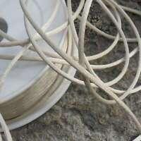 5 Mètres de cordon satin 2,1 mm +/- Fabrication française (Écru)