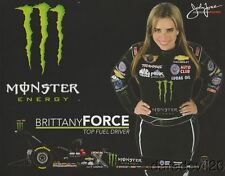 "2015 Brittany Force Monster ""1st issued"" Top Fuel NHRA postcard"