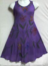 New Women Clothing Sundress Summer Beach Party Sun Dress Free Size Purple
