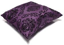 "New Decorative Decor Throw Sofa Pillow Case Cushion Cover Velvet Flock 17"" x 17"""