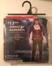 New Prince of Darkness Vampire Halloween Costume Tunic Cape Dickey Sz XL (40-42)