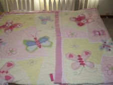 EEUC Pottery Barn Sophie Twin Quilt Butterflies Girls TWINS
