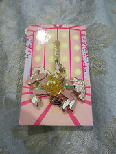 Disney Glitter Princess Carousel Horse Beauty and the Beast Belle Mystery Pin