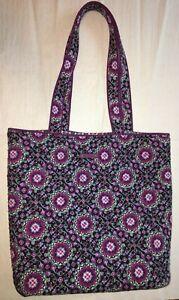 Vera Bradley Tote Bag Medium Size Lilac Medallion
