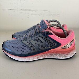 New Balance Fresh Foam 1080 Womens Running Shoes Grey Pink US 9.5 VGC Free Post