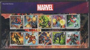 2019  Marvel + Mini Sheet Presentation Pack 568   - Ref:5608