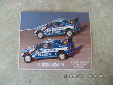 AUTOCOLLANT  PEUGEOT 405 PARIS DAKAR 1989 VATANEN   K9