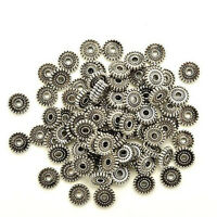 100pcs Tibet Silver Loose Spacer Beads Jewelry Making Findings DIY Beads Hot