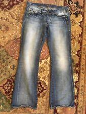 "MAVI Jeans Women's 14 (34"" waist) Blue Denim Mild Distressing Zoe Bootcut NO TAG"
