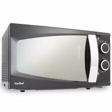 VonShef 17 Litre Microwave Oven 6 Power Levels Easy To Operate 700W Black Solo