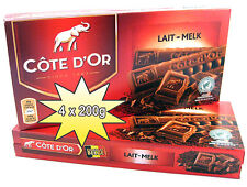 Côte d'Or Lait/Melk 800g (4x200g) BELGISCHE VOLLMILCH SCHOKOLADE Riegel Belgien