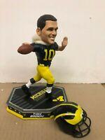 TOM BRADY  -  Michigan FOCO Removable Helmet Football Bobblehead NIB IN STOCK