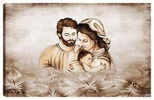 Quadro moderno 100x60 sacra famiglia madonna gesù nascita capezzale religioso