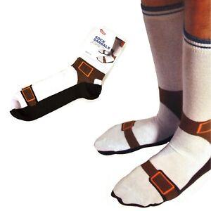 Sandal Silly Socks UK Size 5-11 Stocking Filler Gift Novelty Adults Secret Santa