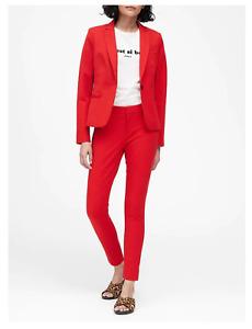Banana Republic Classic-Fit Washable Blazer Hot Red Size 0 item #501385