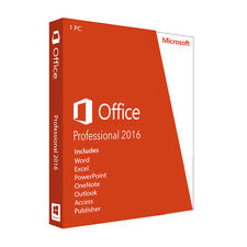 Microsoft Office 2016 Professional (Outlook, Access, Publisher,....) Vollversion