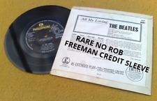 "BEATLES "" ALL MY LOVING "" SUPER UK RARE NO ROB FREEMAN CREDIT ERROR EP"