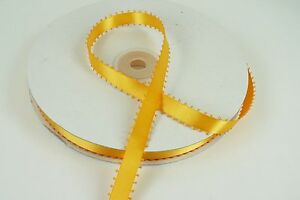"""3/8"""" PICOT Feathered DOUBLE FACE SATIN Ribbon 100% POLYESTER 50 Yards"""