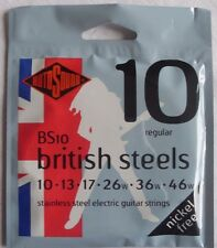 Rotosound BS10 British Steels, electric guitar strings, regular, nickel free