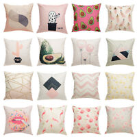 Flowers Vintage Pillow Case Pillowcase Sofa Waist Throw Cushion Cover Home Decor