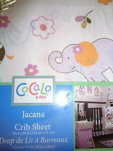 NEW COCALO JACANA FITTED  CRIB SHEET