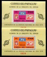 Paraguay 1966 Space Raumfahrt Deutschland Oberth Block 83-84 Postfrisch MNH