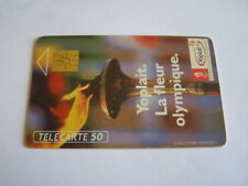 telecarte yoplait flamme olympique 50u ref phonecote F129A