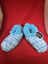 Snoozies slippers, So Soft Blue/WhiteSIZE Small Size 5-6 Non-skid, NWT