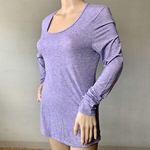 LUCY TECH SIZE M Lavender Purple Long Sleeve Sccop Neck Activewear Top