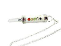 Jet Scolecite Mini Chakra Stick Pendulum 3 - 3.5 inch approx. Pocket Wand