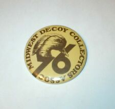 Midwest Decoy Collectors Association Pin / Badge 1976  Free Shipping