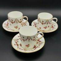 Rare Victorian Crescent China George Jones & Sons Chocolate Cups and Saucers.