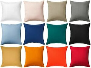 UK GURLI 100% Cotton Plain Cushion Cover Square 50x50cm 20''x20'' IKEA FAST POST