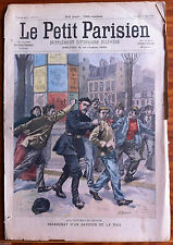Le petit Parisien illustré  11/03/1900; Assassinat d'un gardien de la paix