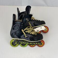 Mission proto SV 4.3 HI LO 80/72 roller blades hockey skates adult size 8 D