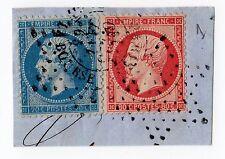 rare timbres sur fragments yet n° 22 et n°24 rose rouge cachet étoile rare stamp