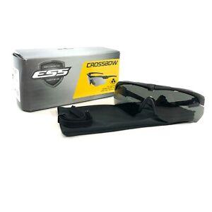 ESS Crossbow Suppressor Glasses Eye Protection Military Smoke Gray Ballistic