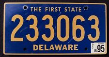 "DELAWARE "" THE FIRST STATE - 233063 "" 1995 DE Vintage Classic License Plate"