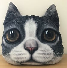 3D Effect Cat with Brown Eye Pillow perfect Christmas or Birthsday present