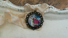 1Vintage Style Handmade Pendant With Ribbon 1 inch