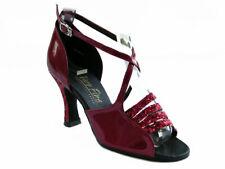 1651 Red Sparkle Swing Ballroom Salsa Mambo Latin Dance Shoes heel 2.5 Size 6