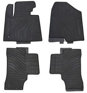Floor Liners Front and Rear Row Set Black Megiteller Car Floor Mats Custom Fit for Hyundai Santa Fe 2013 2014 2015 2016 2017 2018 Odorless Washable Heavy Duty Rubber All Weather