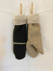Handmade Mittens Repurposed Sweaters Suits Wool or a Blend Fleece Lined size S