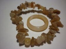 cristalloterapia BRACCIALE AVVENTURINA ROSSA + ANELLO braccialetto cristallo