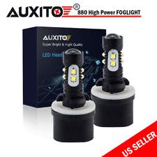 2PC 880 LED Fog Light Bulb DRL 6000K Xenon White High Power 890 892 893 899