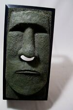 Whimsical Green Face Tiki with Tissue Nose Extraction Tissue Box Cover